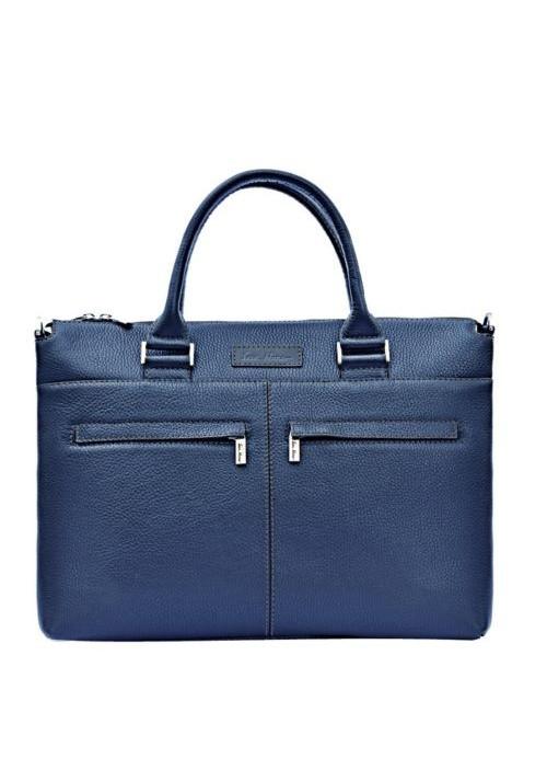 Мужская деловая сумка ISSA HARA синяя
