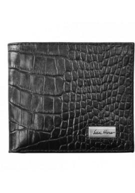 Фото Мужской кошелек брендовый ISSA HARA черная рептилия