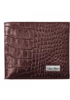 Фото Мужской кошелек брендовый ISSA HARA коричневая рептилия