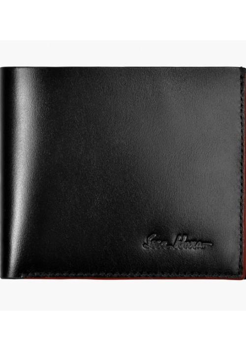 Бумажник мужской кожаный ISSA HARA черный