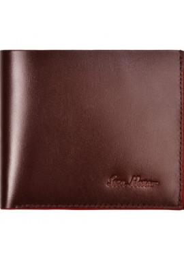 Фото Бумажник мужской кожаный ISSA HARA коричневый