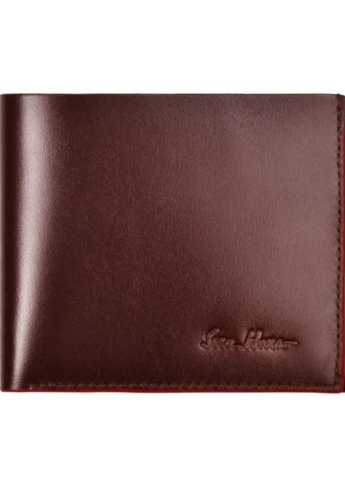 Бумажник мужской кожаный ISSA HARA коричневый
