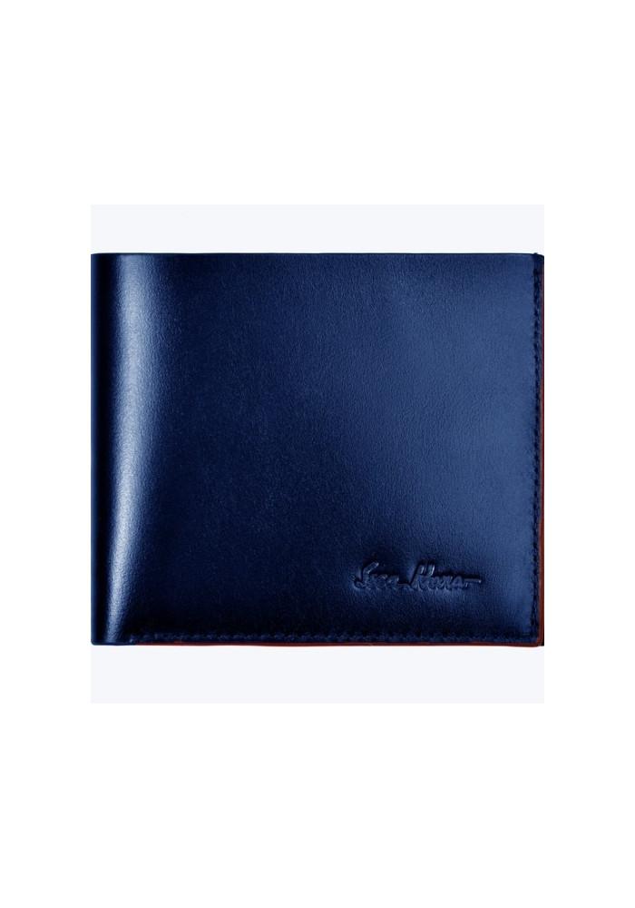 Бумажник мужской кожаный ISSA HARA синий