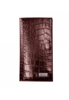 Фото Мужской кошелек кожаный ISSA HARA коричневая рептилия