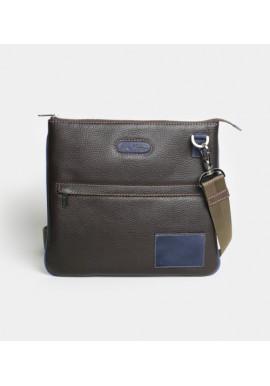 Фото Мужская сумка на плечо ISSA HARA коричневая
