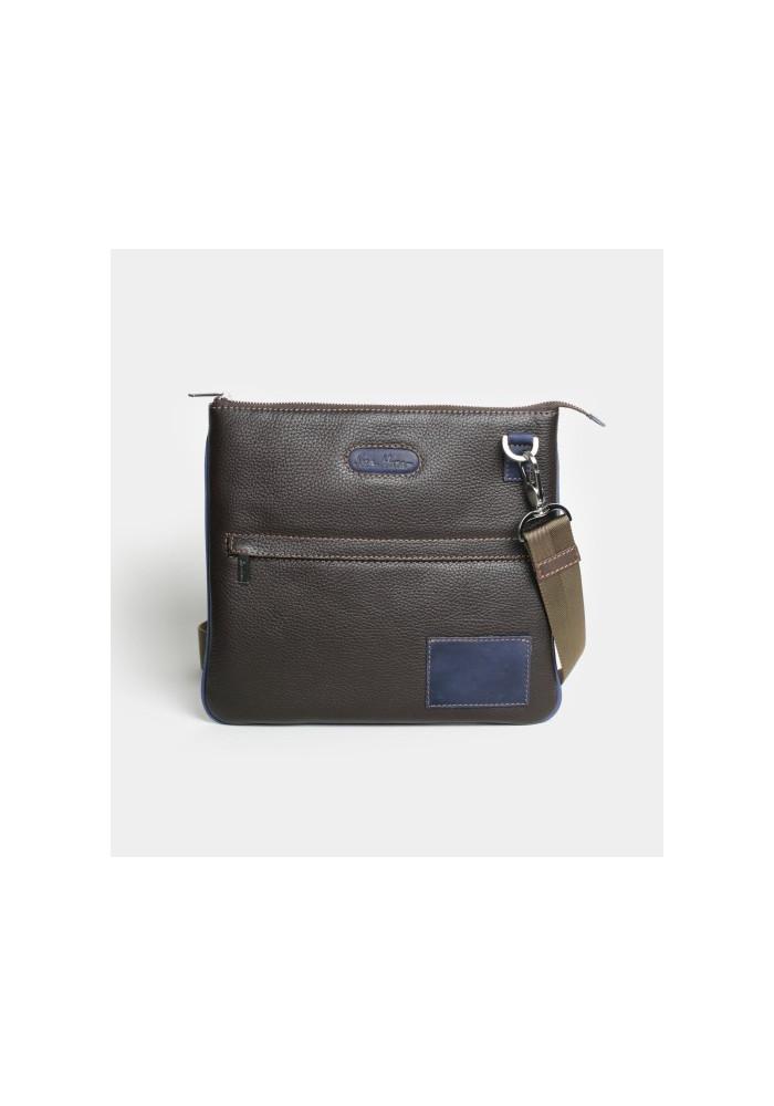 Мужская сумка на плечо ISSA HARA коричневая