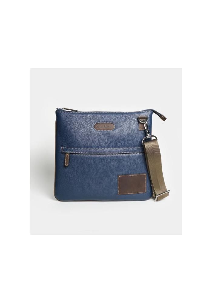 Мужская сумка на плечо ISSA HARA синяя