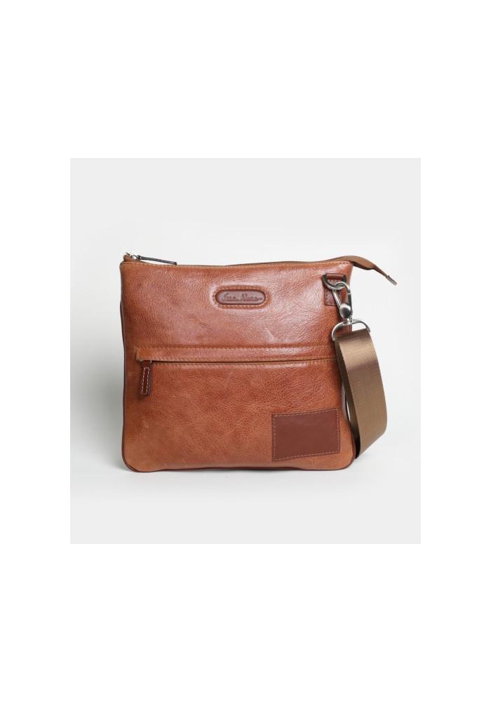 Мужская сумка на плечо ISSA HARA рыжая