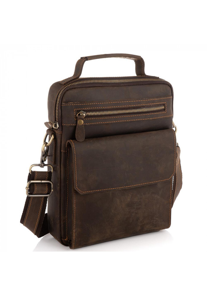 Фото Мужская сумка через плечо из натуральной кожи с ручкой Tiding Bag t0038C