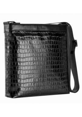 Фото Мужская лаковая сумка через плечо ISSA HARA черная
