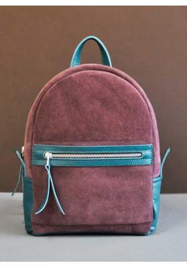 Фото Замшевый рюкзак женский Sport Emerald + Wine