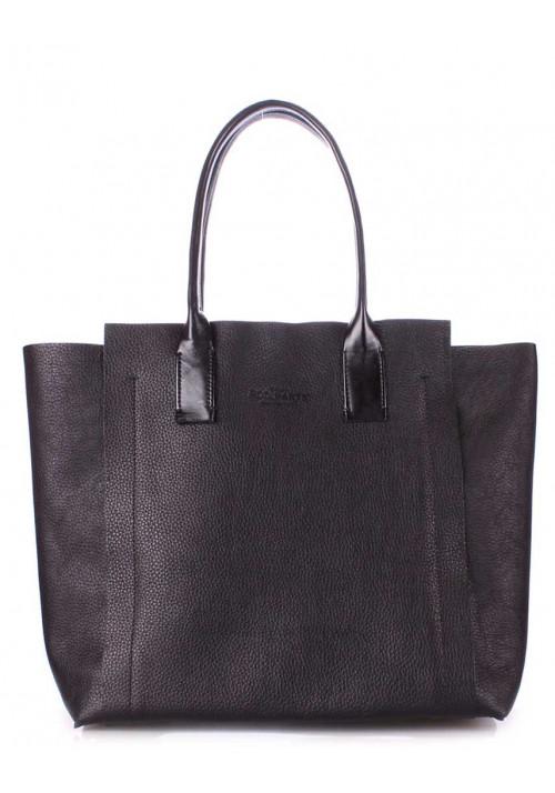Кожаная сумка женская брендовая Poolparty Legend Black