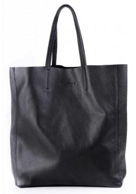 Женская кожаная сумка Poolparty City Black