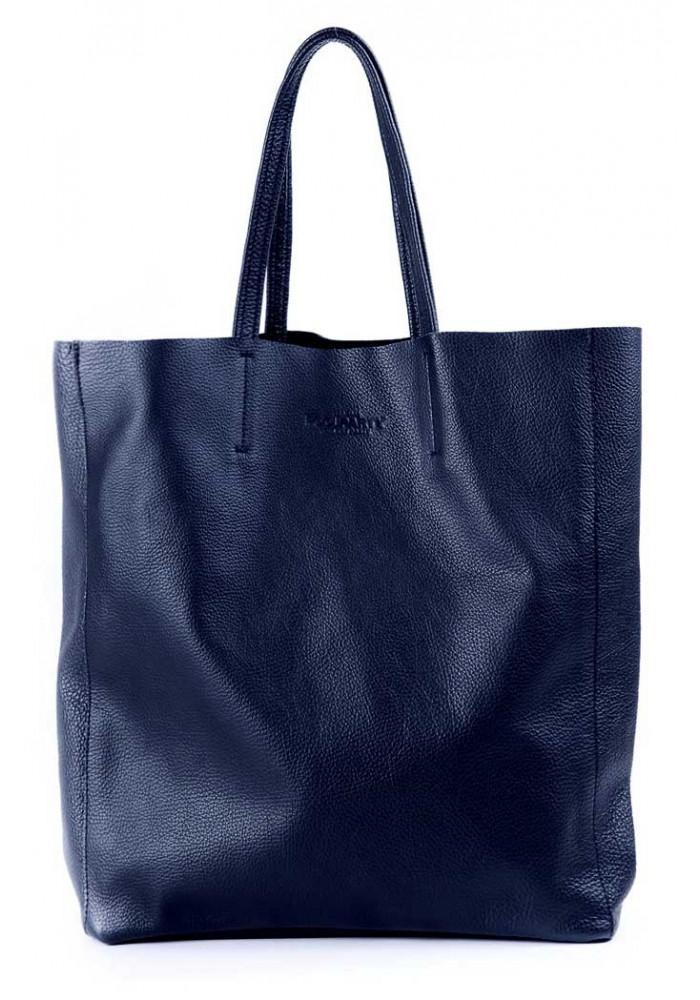 Женская кожаная сумка Poolparty City Darkblue