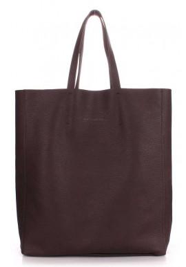 Женская кожаная сумка Poolparty City Brown