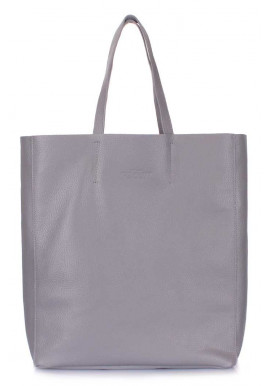 Женская кожаная сумка Poolparty City Grey