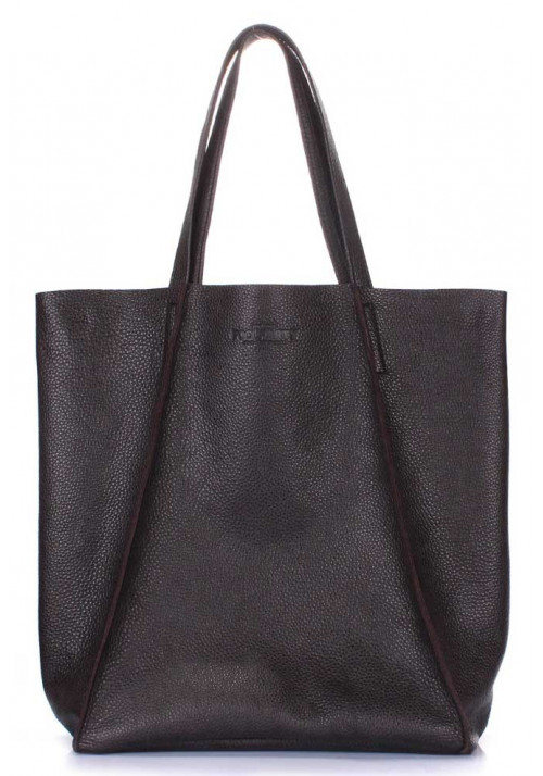 Кожаная сумка для женщины Poolparty Edge Brown