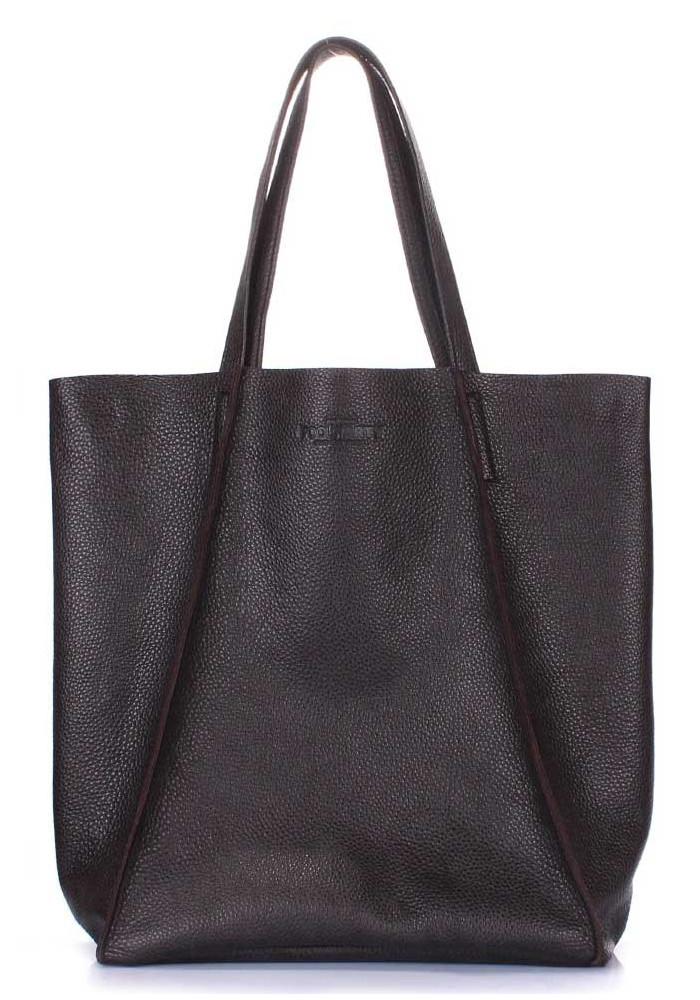 Фото Кожаная сумка для женщины Poolparty Edge Brown