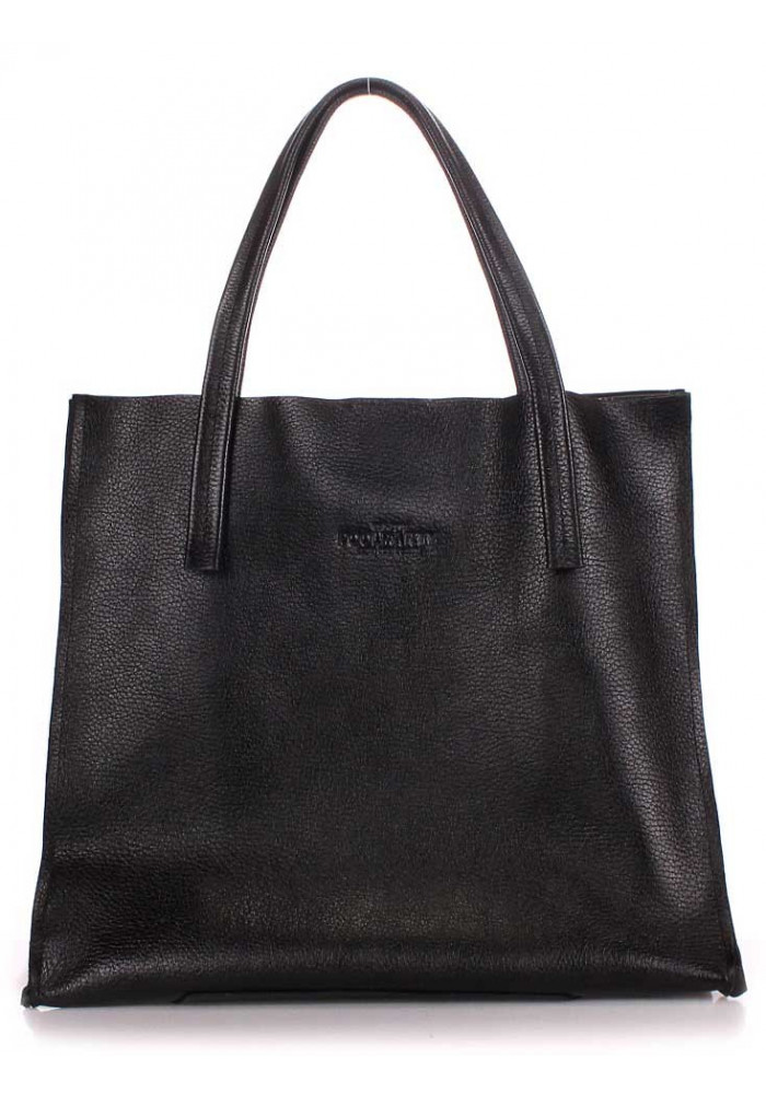 Фото Кожаная модная женская сумка Poolparty Soho Versa Black