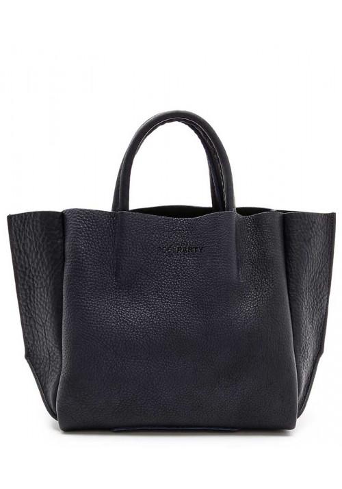 Кожаная модная женская сумка Poolparty Soho Black