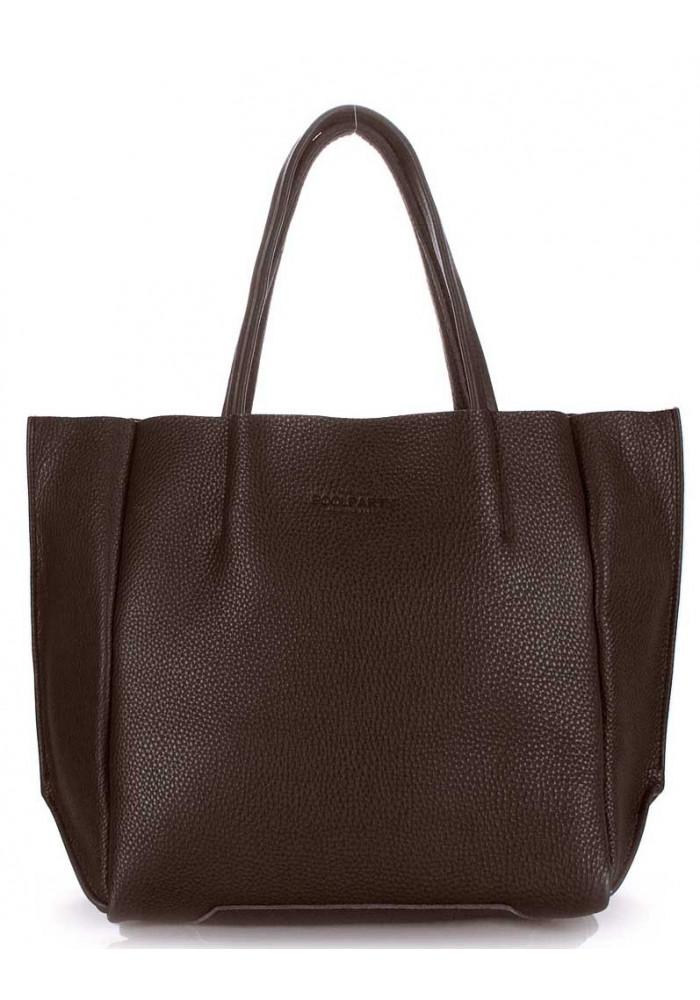 Кожаная модная женская сумка Poolparty Soho Brown