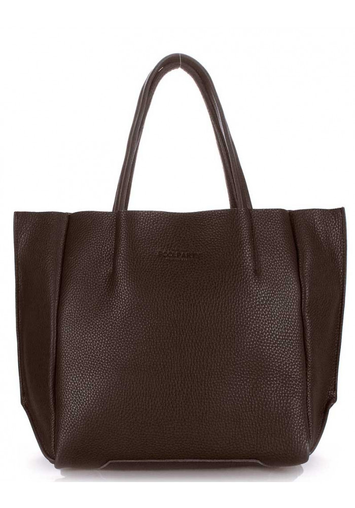 Фото Кожаная модная женская сумка Poolparty Soho Brown