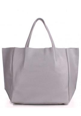 Фото Кожаная модная женская сумка Poolparty Soho Grey