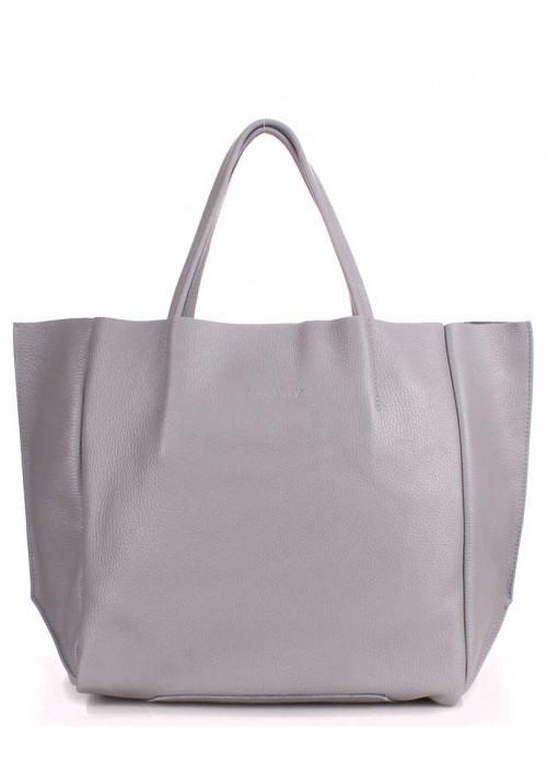 Кожаная модная женская сумка Poolparty Soho Grey