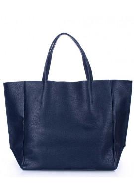 Фото Кожаная модная женская сумка Poolparty Soho Darkblue