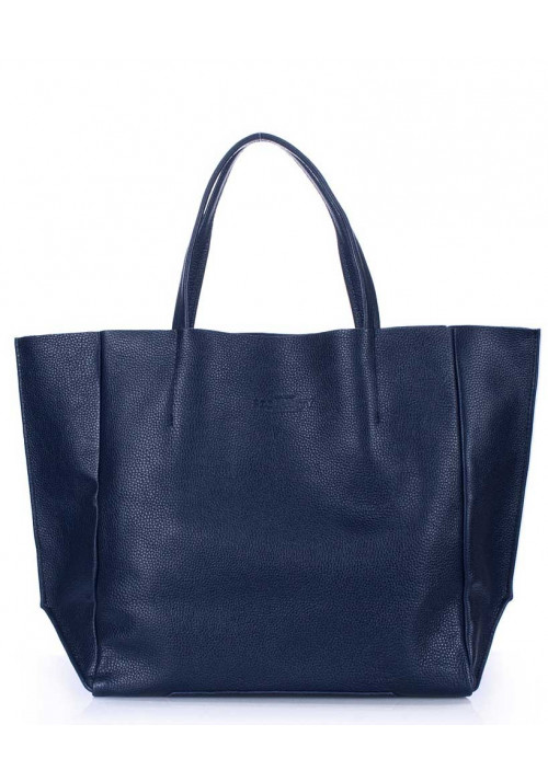 Кожаная модная женская сумка Poolparty Soho Darkblue