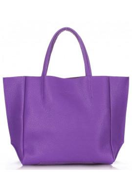 Фото Кожаная модная женская сумка Poolparty Soho Violet