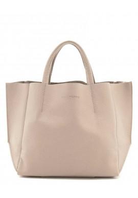 Фото Женская сумка кожа Poolparty Soho Beige
