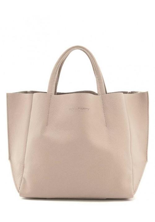 Женская сумка кожа Poolparty Soho Beige