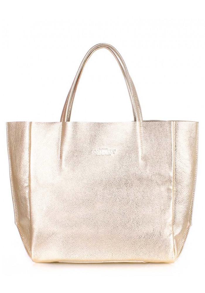 Женская сумка кожа Poolparty Soho Gold