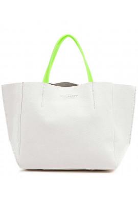 Фото Женская сумка кожа Poolparty Limited Soho White Green