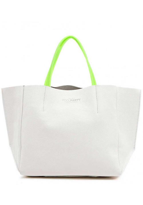 Женская сумка кожа Poolparty Limited Soho White Green