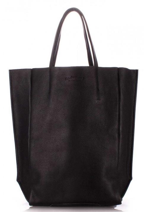 Кожаная брендовая женская сумка Poolparty Bigsoho Black
