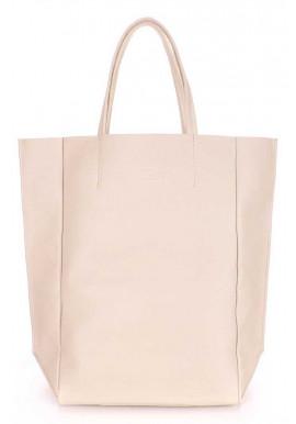 Фото Кожаная брендовая женская сумка Poolparty Bigsoho Beige