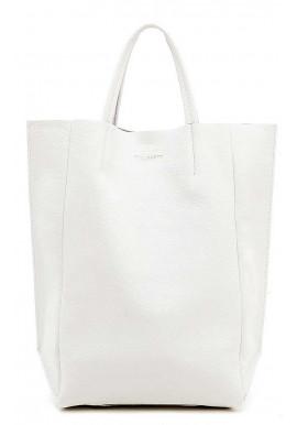 Фото Кожаная брендовая женская сумка Poolparty Bigsoho White