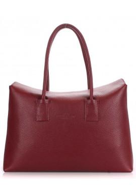 Фото Кожаная брендовая женская сумка Poolparty Sense Marsala