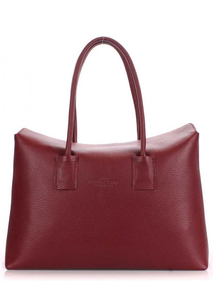 Кожаная брендовая женская сумка Poolparty Sense Marsala