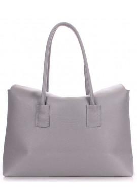 Фото Кожаная брендовая женская сумка Poolparty Sense Grey