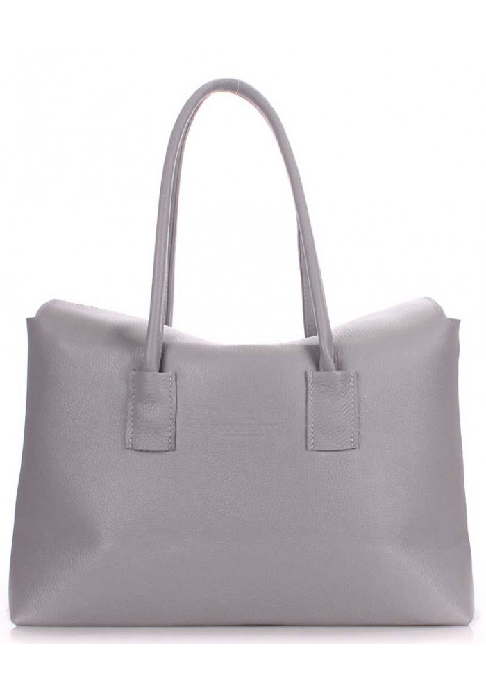 Кожаная брендовая женская сумка Poolparty Sense Grey