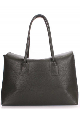 Фото Кожаная брендовая женская сумка Poolparty Sense Khaki