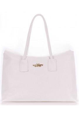 Фото Кожаная брендовая женская сумка Poolparty Sense White
