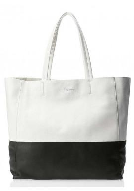 Фото Кожаная брендовая женская сумка Poolparty Devine White Black