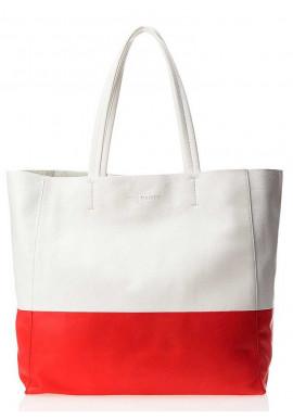 Фото Кожаная брендовая женская сумка Poolparty Devine White Red
