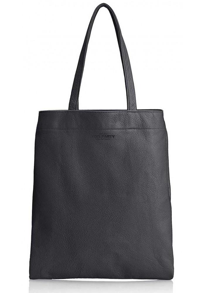 Стильная кожаная сумка Poolparty Daily Tote Black