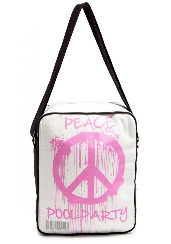 Мужская сумка через плечо Poolparty Pool-18 Peace