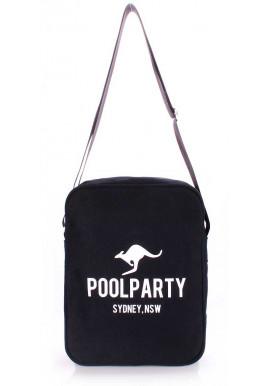 Фото Мужская сумка через плечо Poolparty Pool-18 Black